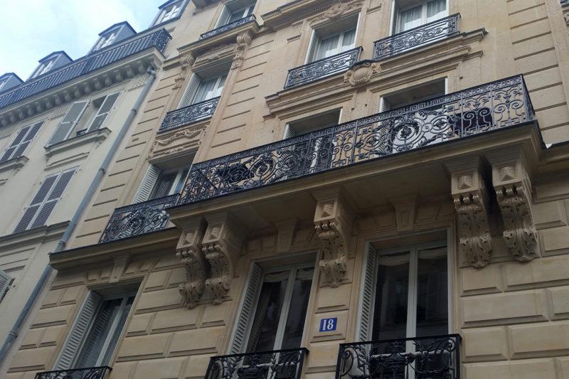 Ravalement d'un immeuble Haussmannien