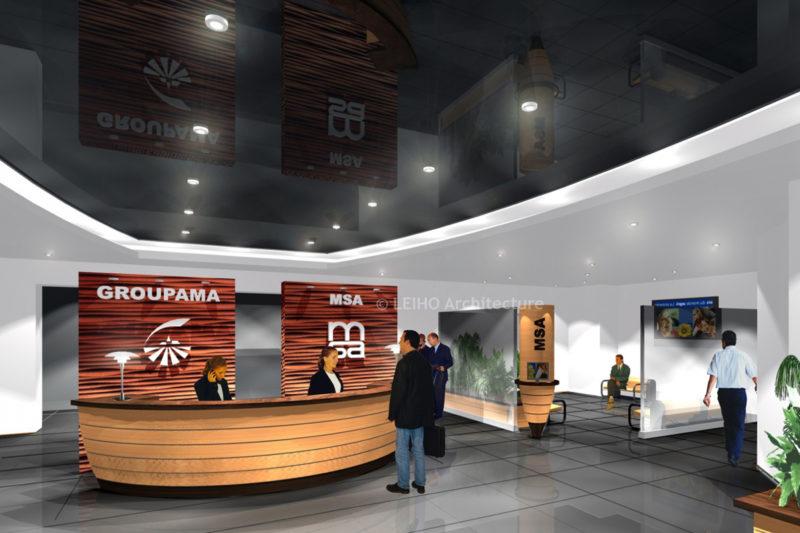 Accueil siège social Groupama / MSA
